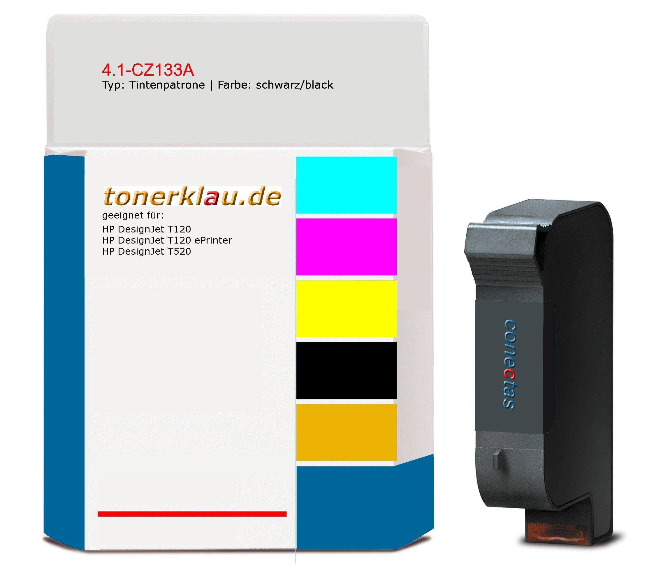 Cartucho de tinta 4.1 de CZ133 A compatible con HP CZ133 A Adecuado para: HP Designjet T120/HP Designjet T120 ePrinter/HP Designjet T520: Amazon.es: Oficina y papelería