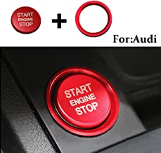 Senauto Bling Air Conditioner Control Switch Knob Cover Trim Decoration Ring Fit for Audi A3 S3 RS3 Q2