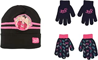 JoJo Siwa Girls Reversible Winter Hat and 2 Pack Glove...