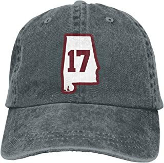 Alabama 17 Crimson Neutral Adjustable Baseball Cap