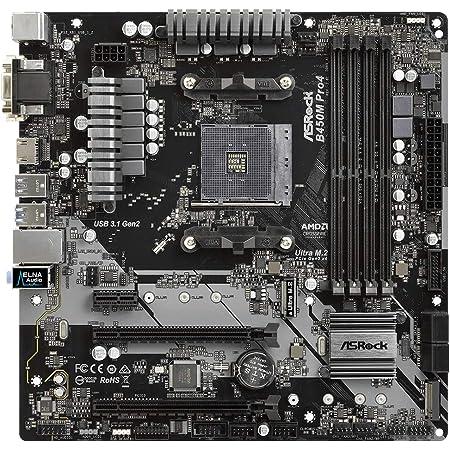 ASRock AMD B450チップ搭載 Micro ATX マザーボード B450M Pro4