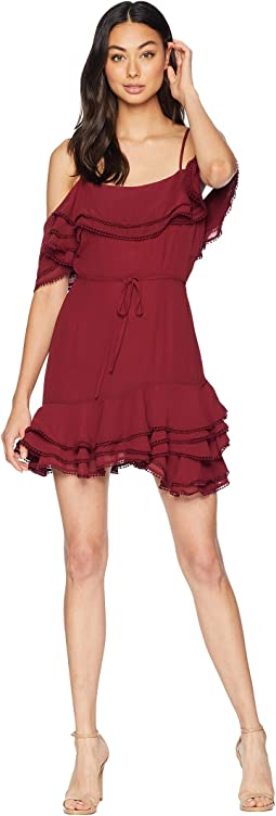 Up All Night Layered Ruffle Dress