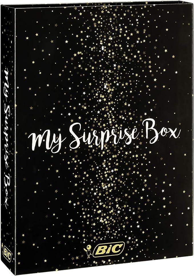 318 opinioni per BIC My Surprise Box- Set Regalo Con 14 Strumenti Di Scrittura, 4 Penne A Sfera/5