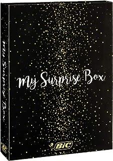 BIC My Surprise Box - Gift Set of 14 Writing Instruments, 4 Ballpoint Pens/5 Metallic Felt-tips/ 5 Gel Pens/1 Sticky Note ...