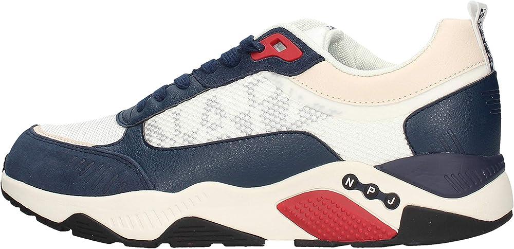 Napapijri, scarpe sneakers uomo modello lake,in pelle e tela. NA4ES9