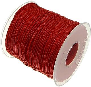 My-Bead 90m Nylonband Kordel 1mm rot wasserfest Nylonschnur Top Qualität Schmuckherstellung basteln DIY Grundpreis 0.13 Cent je Meter