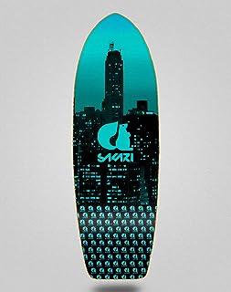 Sakari Surfskate Skate Skateboard Deck City Blue 2...