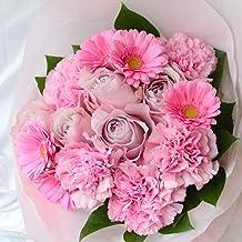 花 ギフト 母の月【母の月】 プレゼント 高級 花束 生花 お祝い 誕生日 フラワーデザイナーおまかせ 5月11日以降にお届け (ピンク系Mサイズ)