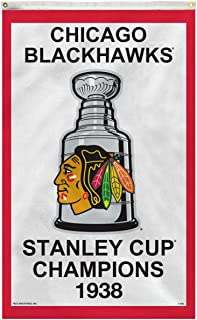 Rico Industries Chicago Blackhawks Vertical 3 X 5 1938 Stanley Cup