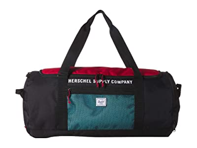 Herschel Supply Co. Sutton Carryall (Black/Red/Bachelor Button) Duffel Bags