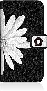 CaseMarket apple iPhone 6 (4.7インチ) (iPhone6) 手帳型 オリジナルデザイン スリム ケース [ モノトーン B&W ビッグ フラワー ダイアリー ]