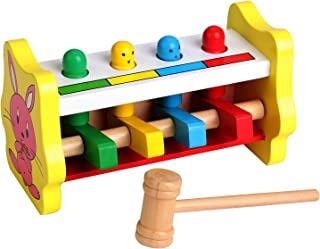Enfants pour lapprentissage Amusant Musical Toys Mi ji Oeuf Clochette Sable Marteau Jouets pour B/éb/é Maracas en Bois Hochet Shakers Musical /éducatif