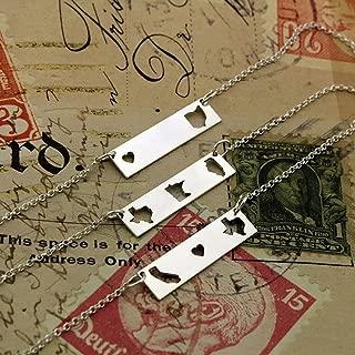 double horizontal bar necklace