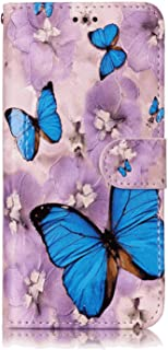 PU Leather Flip Cover Compatible with Samsung Galaxy Note 10, Elegant butterfly Wallet Case for Samsung Galaxy Note 10