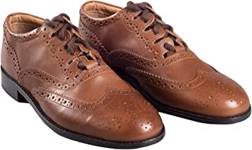 Kilt Society Mens Tan Leather Scottish Ghillie Kilt Brogues