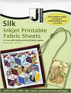 Jacquard Ink Jet Fabric 8.5'' x 11'' Silk Sheets (10 pack)