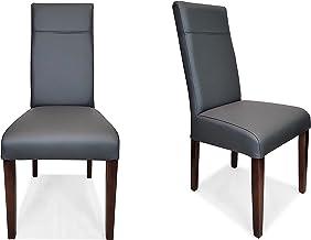 Ciemnoszary antracyt, krzesła z prawdziwej skóry, krzesła Elizabeth, krzesła z prawdziwej skóry, krzesło do jadalni, krzes...