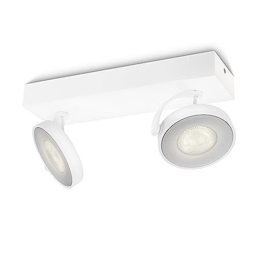 Philips myLiving Clockwork - Barra de 2 focos LED, iluminación interior, aluminio, color