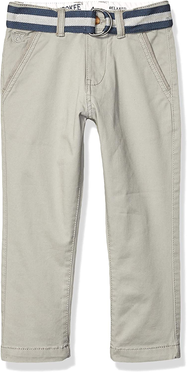 Cherokee Boys' Belted Woven Chino Pants