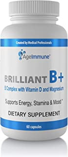Vitamin B Supplements Complex with B6, D, Magnesium, Methylated B12 and Folate (Folic Acid). Doctor Formulated Vitamins fo...