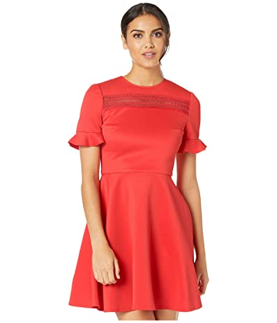 Ted Baker Calizee Lace Insert Skater Dress (Red) Women