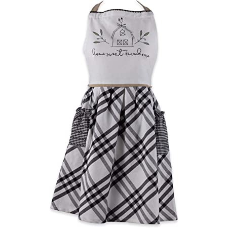 Amazon Com Dii Home Sweet Farmhouse Kitchen Textiles Collection Stylish And Functional For Everyday Use Apron Home Kitchen