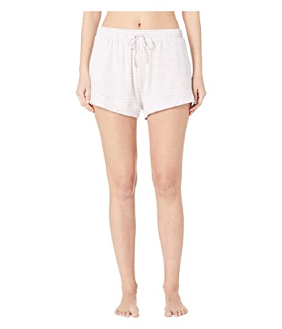 Eberjey Sadie Stripes The Slouchy Shorts (Ivory/Lavender Fog) Women