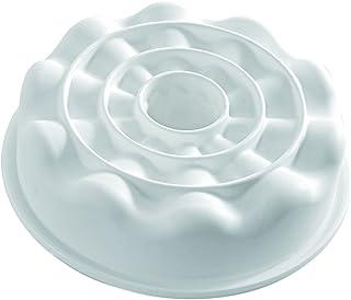 Silikomart White Silicone Mold, Round w/Cone-Shaped Ridges ARMONIA-1