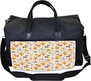 Large Weekender Carry-on Lovely Couple on Branch Ambesonne Owls Gym Bag