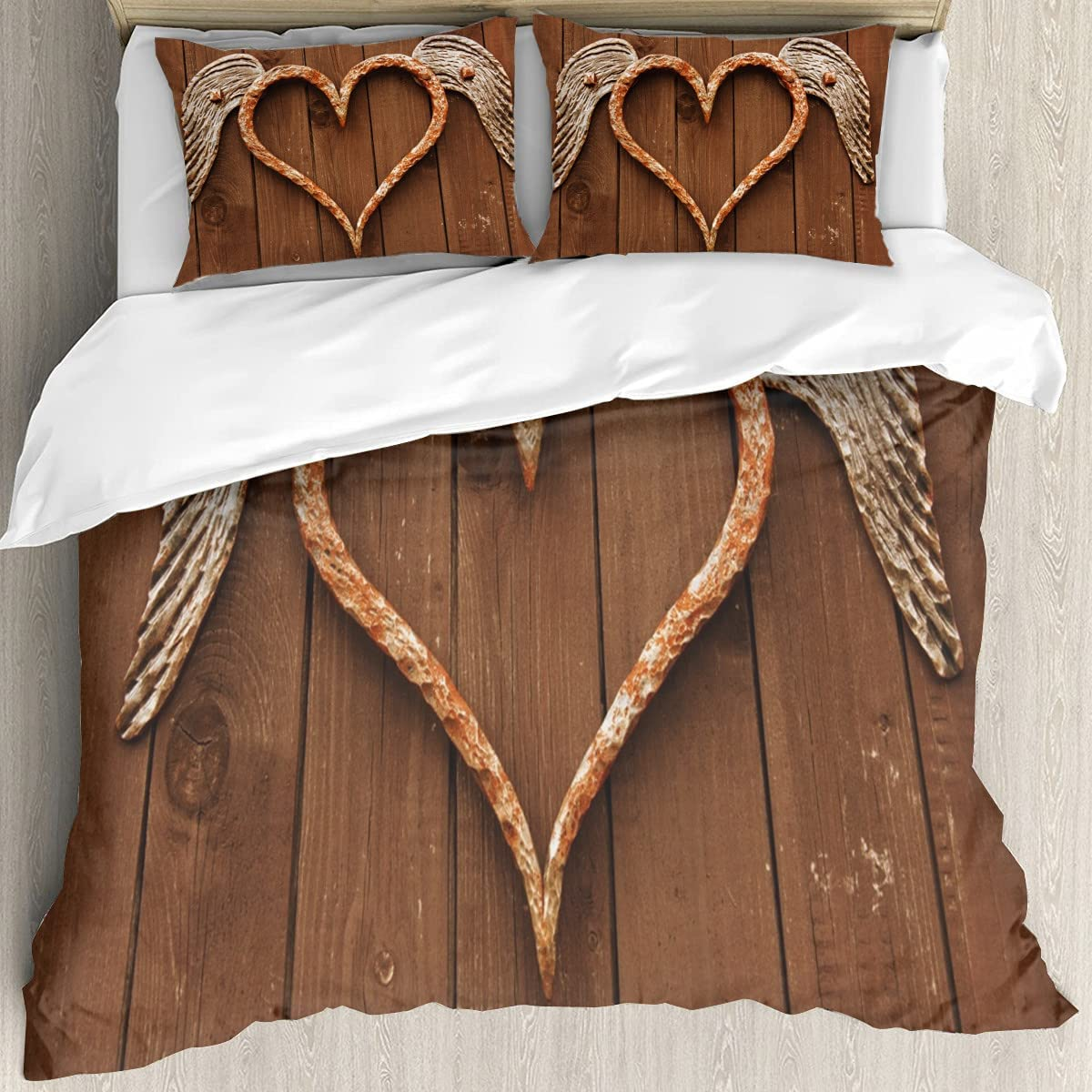 Rusty Heart with Wings 3D Printing Our shop most popular Twin Cover Bedding a Soft Set New York Mall