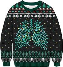 Ocean Plus Heren Halloween Sweatshirts met Digitale Druk Grappige Unisex Kerstmis Pullover met Lange Mouwen