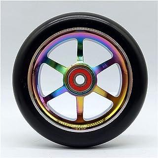 zwenkwielen met rem, Caster Wheels Set van 4 Casters 2 stks 12 0mm Stunt Scooter Wheels met oxidatie Polijsten Aluminium H...