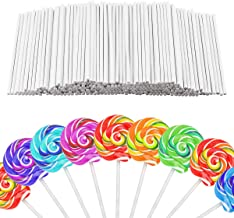 WFPLUS 400 Pieces 4 Inch White Lollipop Sticks for Cake, Cookies, Chocolate and Hard Candy Lollipops