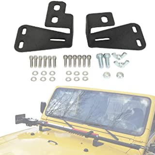 Partol High Lift Jack Mounts Hinge Mounting Hood Brackets Fit Jeep Wrangler CJ 1944-1986/ YJ 1987-1995/ TJ 1997-2006