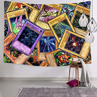 906 Cool Yu-GI-Oh Cards Custom Tapestry Wall Hanging Art Unique Curtain for Room Home Decor in 60x51 Inches