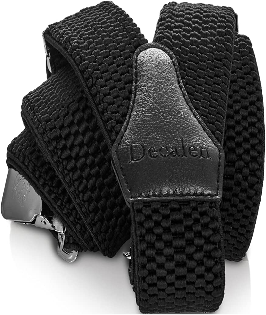 Decalen Mens Suspenders Selling Very Strong Braces Heavy Shipping included Clips One Duty