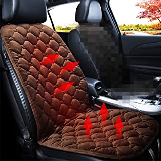 Car 24V Front Seat Heater Cushion Warmer Cover Winter Heated Warm, Single Seat High Quality (Color : Coffee)