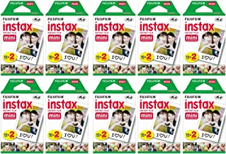 Fujifilm Instax Mini Instant Film (10 Twin Packs, 200 Total Pictures) for Instax Cameras