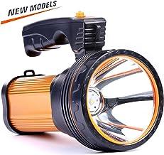 چراغ قوه قابل شارژ LED CANDICE 35W LED ، چراغ قوه قابل شارژ فوق العاده 9000mah 6000 Lumens ، USB Power Bank USB چراغ قوه قابل شارژ IPX4 چراغ قوه ضد آب ، چراغ قوه قابل حمل. (طلایی)