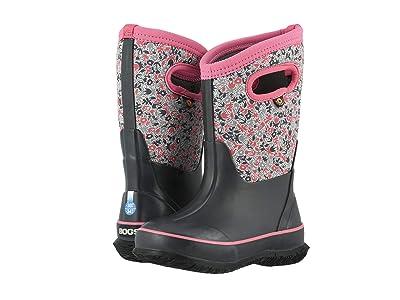 Bogs Kids Classic Freckle Flower (Toddler/Little Kid/Big Kid) (Gray Multi) Girls Shoes