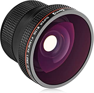 Opteka 0.20X Professional AF Fisheye Lens for Canon EF EOS 80D, 77D, 70D, 60D, 50D, 40D, 7D, 6D, 5D, 5Ds, 1Ds, Rebel T7i, T7s, T6s, T6i, T5i, T5, T4i, T3i, T3, SL3, SL2 & SL1 Digital SLR Cameras