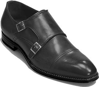 Zapatos de vestir italianos hechos a mano para hombre. Monje de doble hebilla a medida. Cagli