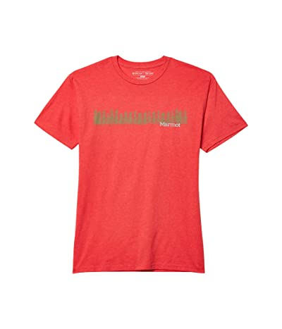 Marmot Forest Tee Short Sleeve (Red Heather) Men