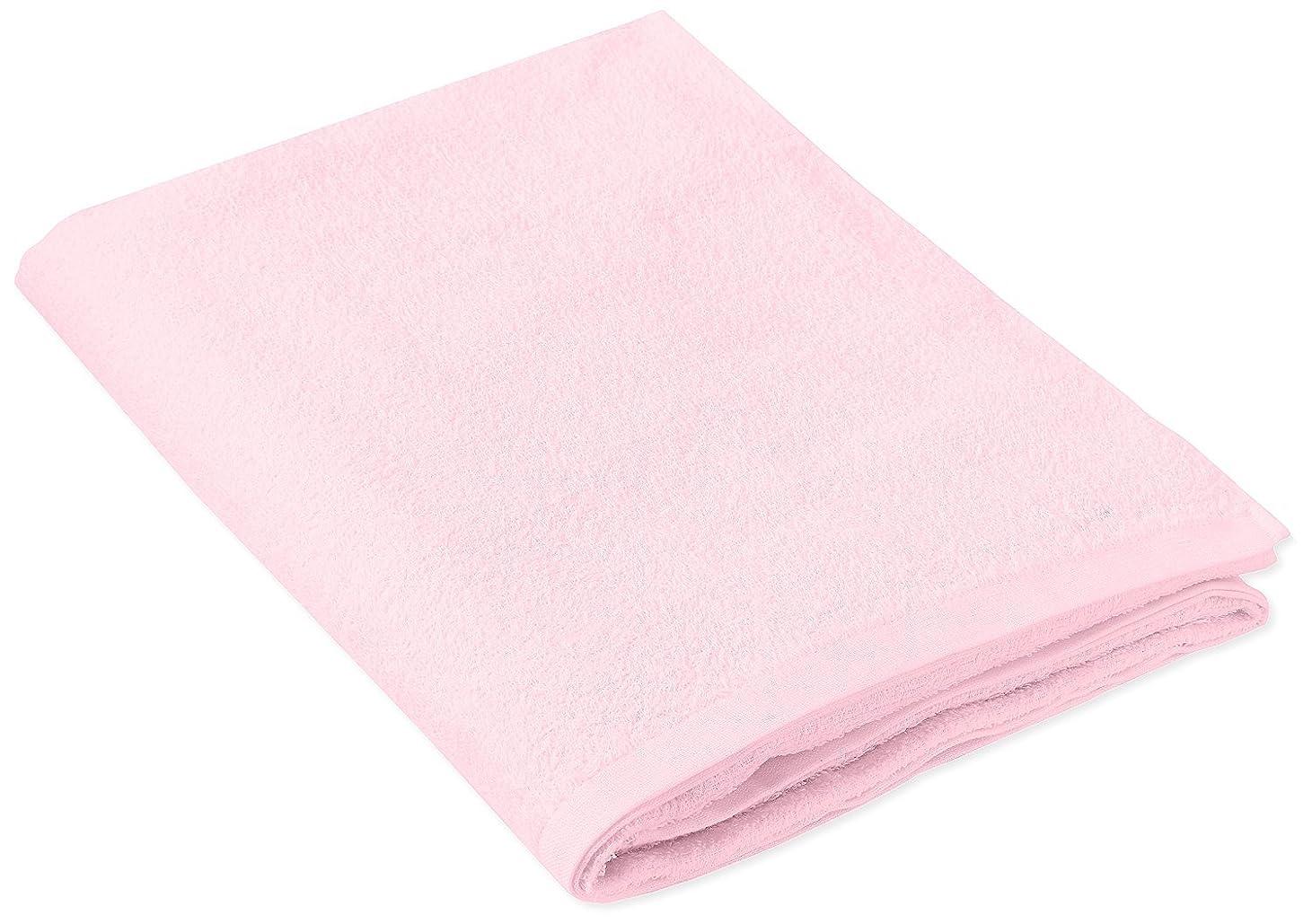 流出ピンチ払い戻しキヨタ 抗菌介護タオル(大判タオル1枚入) ピンク 80×135cm