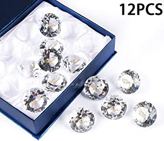 12PCS You Rock! RockImpact Large Engraved Crystal Diamond Jewel Home Décor, Bulk Wholesale Wedding Table Decoration, Paperweight with Inspirational Sayings (Pack of 12, You Rock! Crystal Clear)