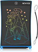 NEWYES Doodle Board , 8.5-Inch LCD Writing Tablet Colorful Screen Erasable Drawing Pad for Kids Aged 3+