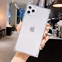 Compatibility with iPhone 12 Pro Max Case,Square Cases Reinforced Corners TPU Cushion,Crystal Clear Slim Cover Shock Absor...