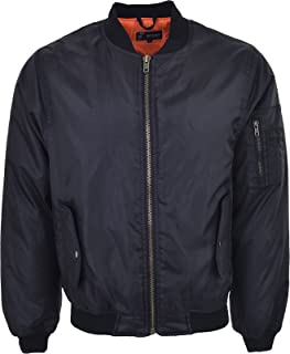 Guv'nors Mens MA1 Military Army Pilot Security Doorman Bomber Mens Workwear Jacket Biker Black