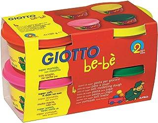 GIOTTO 10296 Pâte Jouer Bebe Testé Dermatologiquement 4 Magenta Pots 100g Assorties