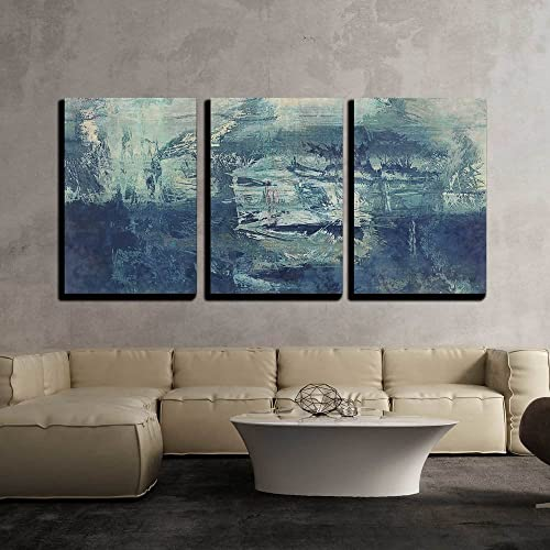 Groovy Abstract Canvas Art With Blue Colors Amazon Com Home Interior And Landscaping Staixmapetitesourisinfo